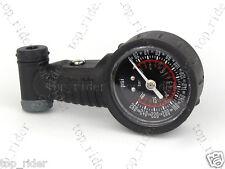 Dial Tire Air Pressure Gauge Presta / Schrader 260 PSI Dual Scale