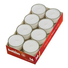 Bolsius Maxi Teelichter im Acryl Cup transparent ca. 9 Stunden Brenndauer