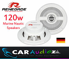 Renegade RXM-52 MARINE NAUTIC WATERPROOF OUTDOOR WHITE SPEAKERS BOATS CAR AUDIO