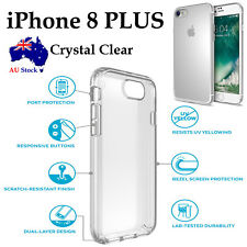 Apple iPhone 8 PLUS TPU transparent crystal clear cushion bumper back case cover