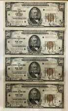 $50 1928 3 Consecutive Notes w/4th Note Close, Nice AU 108 109 110 136