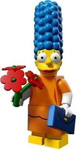 The Simpsons 2 Lego collectible minifig Marge - Sunday Best + flowers handbag