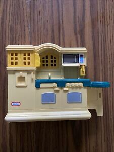 Vintage Little Tikes Dollhouse Country Kitchen 1980's Yellow & Green 5541, RARE