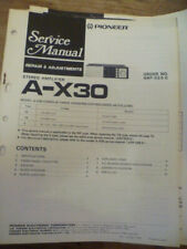 Pioneer  A-X30  Stereo Amplifier  Service Manual
