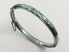 VINTAGE STERLING SILVER BABY CHILD'S BANGLE BY CHARLES HORNER 1967