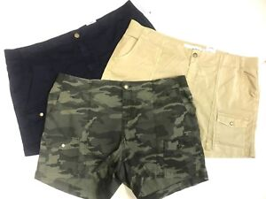Sonoma Women 20-24W Shorts Summer Hiking Fishing Camping Beach Cotton Camouflage