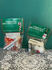 2 Vintage K-B Craft Kits - Candy Cane Ornament & Snowman Ornament - Vintage New!