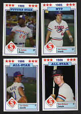 1986 Southern League All-Stars Minor League Card Set Bo Jackson Jose Canseco