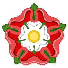 "Tudor Rose Flag car bumper sticker window decal 5"" x 5"""
