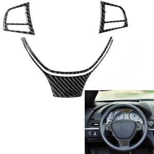 3x Carbon Fiber Steering Wheel Sticker Trim Set For BMW 6Series F12 F13 2011-18