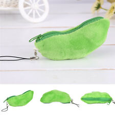 Green Peasecod Pea Doll Beans Plush Stuffed Keychain Emoji Toy Bag Pendant