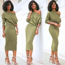 Fashion Women Long Sleeve Evening Cocktail Party Long Dress Ladies Summer Romper