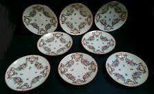 Eight Antique Naples Porcelain Saucer Dishes c. 1835