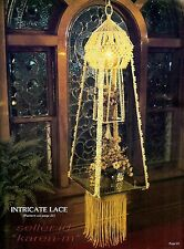 Intricate Lace DOUBLE LIGHTED HANGING TABLE~Macrame Pattern Book~HANGER~Step One