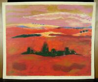 Stein Roux (1932) Landschaft Provence Gravur Originell Unterzeichnet & Num 42/50