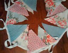 3M Vintage/Shabby Chic Wedding, Baby, bunting Blue/Pink Cath Kidston Fabric