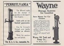 1913 Wayne Gas Pump Ad/ N.S.S. Oil Pump Ad