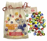 Vintage Extremely Rare Marble King Bag Plus 43 Vintage Marble King Marbles