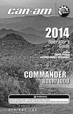 Can-am-commander 800r 1000 2014 Owners Operators Manual Paperback S&h