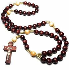 Cherry Holy Relic Rosary touched first class relics St Faustina St Padre Pio JP2