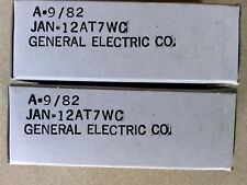 Two (2) x General Electric 12AT7WC Electron / Vacuum Tubes Valves