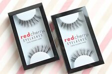 2x Red Cherry DARLA #48 falsche künstliche Echthaar - Wimpern  false strip lash