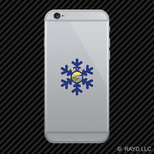 Montana Snowflake Cell Phone Sticker Mobile MT snow flake snowboard skiing skii