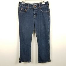 Silver Jeans Womens Jeans 29 Measures 30x25 Cropped Capris Mid Rise Dark
