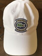 Supreme x Lacoste SS18 Twill 6-Panel Cap White Canvas RARE 100% Authentic