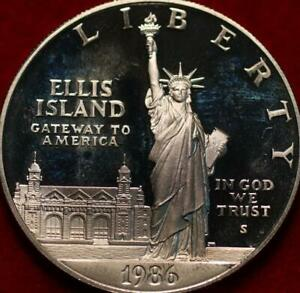 Uncirculated Proof 1986-S San Francisco Mint Ellis Island Silver Dollar