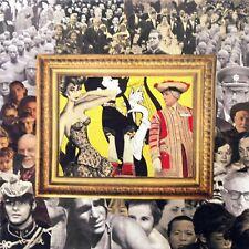 Collage rétro vintage sur chassis entoilé 40x40 cm - Adieux à la reine