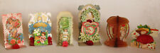 Early Die Cut Valentines ~ Made In Germany ~ (6 Cards) ~ c. - 1920's