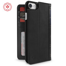 Twelve South BookBook iPhone 6/6s/7/8 leather wallet case/stand/shell, Black