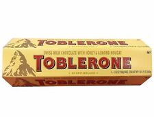 Toblerone Swiss Milk Chocolate with Honey & Almond Nougat 6 Bars 1 LB 5.12 OZ