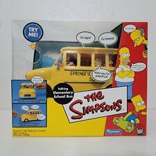 Playmates The Simpsons TALKING ELEMENTARY SCHOOL BUS World of Springfield 140684