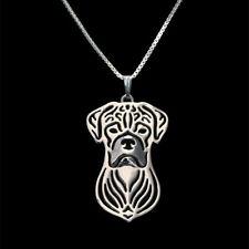 ❤️ Halskette mit Anhänger Hunde Kopf, Deutscher Boxer necklace, pendant