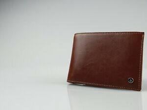 Zippo Brown Leather Bifold Wallet (130mm x 100mm) New in Box - L51090