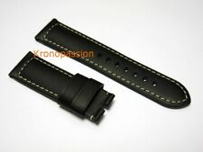 Panerai Black Leather Strap 24mm by 22mm for Luminor 44mm OEM New !