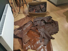 Leather - box of leather pieces box 4