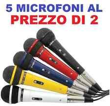 SET DI 5 MICROFONI CON FILO (no wireless) PER KARAOKE PIANOBAR DISCO mixer