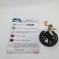 Heroclix Fear Itself set Iron Fist #007 Common figure w/card!