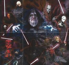"""2012 Topps Star Wars Galaxy 7 Complete 6 Card """"ETCHED FOIL"""" Puzzle Insert set"""