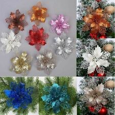 5x Glitter Xmas Hollow Flowers Christmas Tree Hanging Ornament Party Home Decor