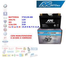 BATTERIA MOTO SCOOTER QUAD 12V 11A CCA-EN 210 YTZ12S-BS APG EXTREME XETZ12SBS