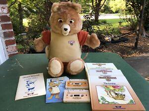 Vintage Teddy Ruxpin Bear 1984/1985 WORKS Cassettes Books Manual