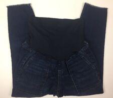 A:Glow Maternity Jeans Size 10 Cropped Stretch Women's Blue Denim