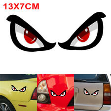 1X 3D Shark Pattern Eye Car Motorcycle Rearview Mirror Reflective Sticker Decal