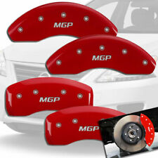2013-2018 Sentra SL SR Front + Rear Red MGP Brake Disc Caliper Covers 4pc Set