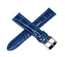 21MM Genuine Alligator Leather Skin Watch Strap Band BLUE TechnoMarine Buckle