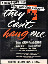 THEY CAN'T HANG ME 1955 Terence Morgan, Yolande Donlan André Morell TRADE ADVERT